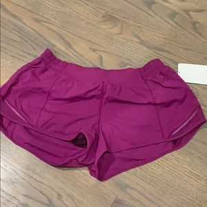 Purple lululemon shorts